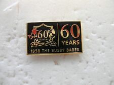 United Badge - Munich 1958 / 60 Years Busby Babes Manchester Black 6th Feb 1958