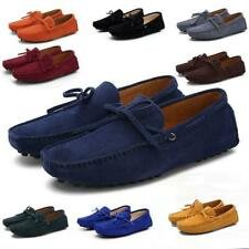 US 6-13.5 Men Loafers Driving Moccasins Casual Soft Suede Leather Penny Shoes