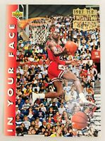 1992-93 Upper Deck #453 Michael Jordan (1987, 1988 Two-Time Champion) NM+