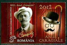 2012 CARAGIALE,Playwright,Bowler hat,Walking stick,Theatre,Romania,6595,TAB/R,NH