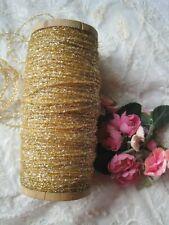 Antique French Light Weight Gold Metal Sparkle Thread Trim 1 Yard