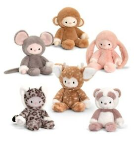 Keel Toys SF6311 Snugglebies 20cm Monkey Mouse Bunny Fawn Leopard Panda BNWT