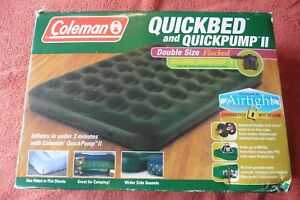 COLEMAN Quickbed Airbed Size Double Bed Flocked Airtight w/ quick pump II