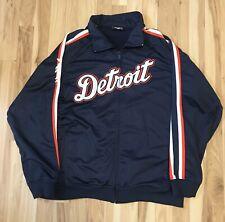Vintage Detroit Tigers FULL ZIP Jacket STITCHES Mens XL MLB Baseball Blue