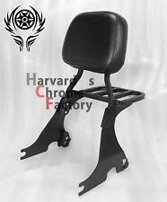 Black Detachable Sissy Bar Backrest with Luggage Rack Sportster XL883 1200 04-17