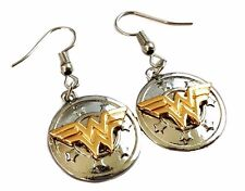 DC Comics Wonder Woman Shield French Wire Earrings
