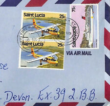 More details for st lucia *vieux fort* registered commercial air mail cover 1981 {samwells}bt229