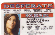 Eva Longoria Desperate Housewives novelty plastic collector card Drivers License