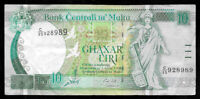 World Paper Money - Malta 10 Liri 1967 (1994) P47b Sign Emanuel Ellul @  VF
