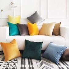 Velvet Cushion Cover THROW PILLOW CASE Sofa Car Home Decor Zip Up Modern Fashion
