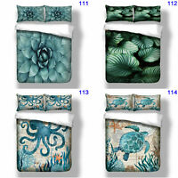Octopus Quilt Duvet Doona Cover Set Single/Queen/King Size Bed Animal Floral New
