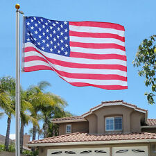 21 Ft. Flagpole Kit W/ (2) 3'x5' U.S.Flags & 3'x5' We Support Our Police Flag