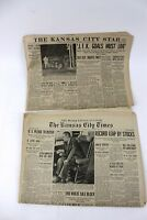 2 Kansas City Star Newspaper November 27, 1963 Kennedy Assassination Information