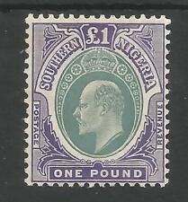 SOUTHERN NIGERIA  SG32 THE 1906 EVII £1 GREY & VIOLET FINE MINT CAT £325