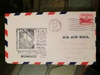 US Stamps 1950 Milwaukee WI Air Mail First Flight Cover