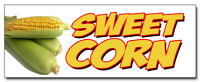 "12"" SWEET CORN DECAL sticker farmers market stand farm fresh just picked ears"