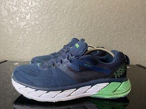Hoka One One Mens Gaviota 2 1099629 MOBI Blue Mint Running Shoes Lace Up Size 12