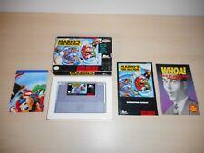 Mario's Time Machine Complete SNES Super Nintendo Game Original CIB Mario Bros