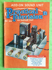 PRACTICAL TELEVISION - July 1960 - Add-On Sound Unit - Vintage Magazine