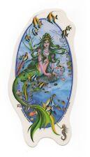 """Lg Vinyl Mermaid Window Decal~""""Aquamarine 34;~Green Hair Ocean Queen~2004~Yujean"""