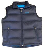 Abercrombie & Fitch Mens Lg Sleeveless Blue Down Feather Filled Puffer Vest~Nice