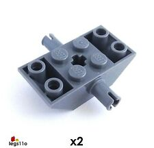 LEGO Double Inverted Slope 4X2/45 2 pins (Pack of 2) NEW 30390 Dark Stone Grey