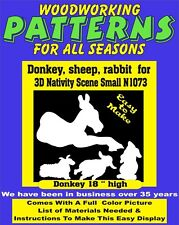 DONKEY SHEEP  RABBIT FOR OUTDOOR  SMALL NATIVITY WOODWORKING PATTERN YARD ART