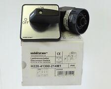 SÄLZER H220-41300-214M1 Lasttrennschalter Haupt-Notausschalter 25A 7,5kW 3P IP66
