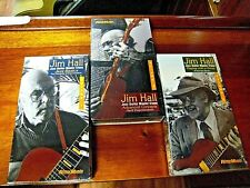 Set Of 3 Jim Hall - Jazz Guitar Master Class Vhs Tapes - Brand New
