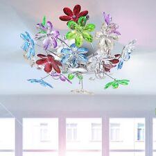 Plafonnier luminaire de plafond haute qualité fleurs multicolores éclairage E14