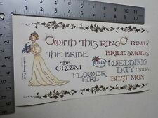 BO BUNNY WEDDING BRIDAL PARTY BORDERS STICKERS SCRAPBOOKING NEW A2877
