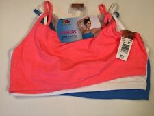 Fruit Of The Loom Sports Tank 3 Pack Spaghetti Strap Sports Bra Size 42 NWT