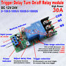 DC12V 24V High Power 30A Trigger Delay Timer Switch Turn ON/Off Time Relay Board