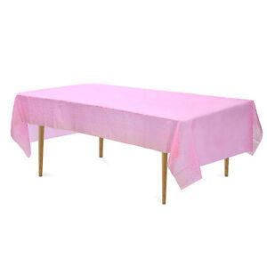 Vinyl Polka Dot Tablecloth Dining Table Cloth Cover Wedding Birthday Party Decor
