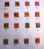 LOT OF 16 OLD CEYLON STAMPS, KGV SG301-345, G/U & F/U