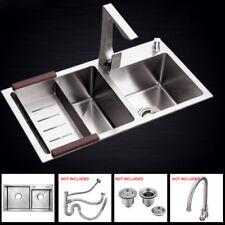Kitchen Sink Handmade Top Mount Double Bowl Kitchen Basin Stainless Steel 75*41