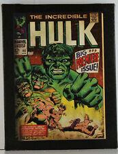 THE INCREDIBLE HULK - ARTISSIMO MARVEL COMICS CANVAS ART - SIZE 6 1/2 X 8 1/2