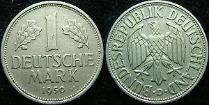 1950 Germany 1 Mark Golden