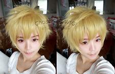 Noragami / Stray God Yukine Dark Yellow Blonde Cosplay Costume Wig+Free Wig Cap