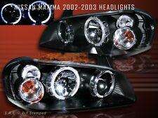 FIT 2002-2003 MAXIMA TWIN HALO HEADLIGHTS JDM BLACK
