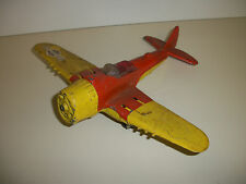 "Vintage Hubley Kiddie Toy ""Flying Circus"" P-47 Airplane Pot Metal"