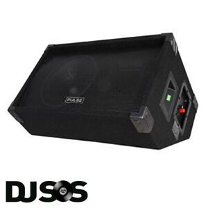 "Pulse PVS12 Wedge Monitor Foldback Speaker PA System Sound System Band 300W 12"""