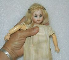"""Antique Bisque Socket Head Max Rader 1910 to 1913 Vtg 9"""" Jointed Germany Doll"""