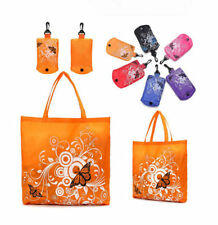 1pc Reusable Eco Shopper Folding Shopping Shoudler Bags Tote In Pouch Clips Gift