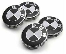 Lot 4 x Centre de Roue Cache Moyeu Logo 68 mm Jante Remplacement BMW Noir Blanc