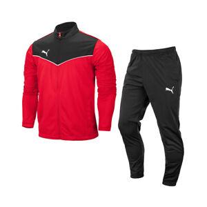 Puma Tracksuits Sets Training Suit Men's Sports Athletic Soft Red/Black 65753401