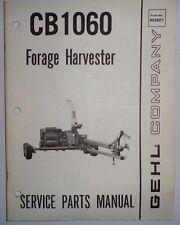 Gehl CB 1060 Forage Harvester Parts Manual Catalog Book 1/85 Original