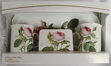 Roy Kirkham Redoute Rose 2 Tasse 2 Dessous De Verre 1 Plateau Set Traditionnel