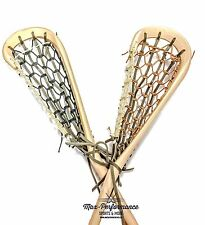Mohawk Lacrosse Traditional Wooden Box Lacrosse Stick! MIL Wood Lax Twig Arena