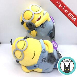Japan Takara Tomy Despicable Me Minion Super Soft Mochi Sleeping Plush Doll Toy